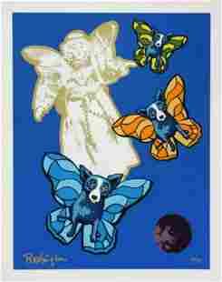 "George Rodrigue Original serigraph on paper ""Angel"
