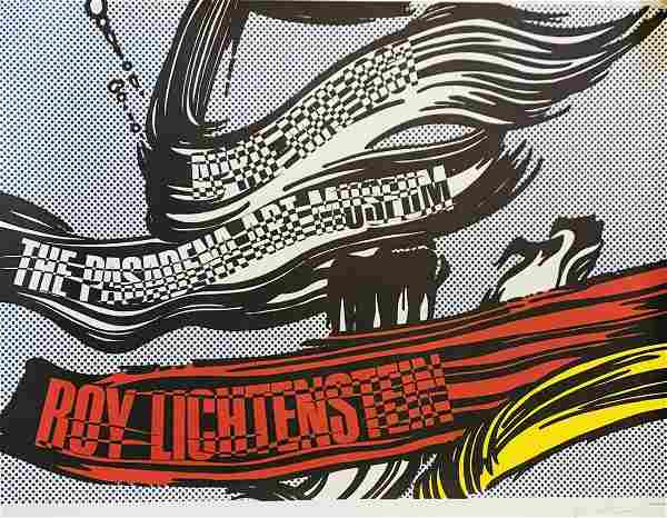 Roy Lichtenstein Original Museum Exhibition Lithograph