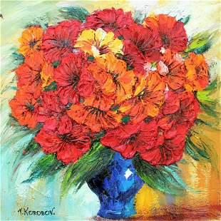 "Korobov Original Acrylic on Canvas ""Untitled"""