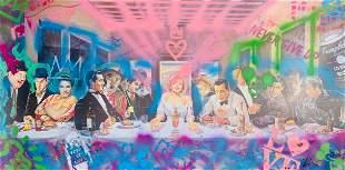 """E.M. ZAX Mixed Media with acrylic on paper """"Last"""