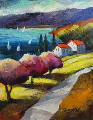 "Levin Original Acylic on Canvas ""Untitled"""