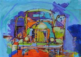 "Yuval Wolfson Original Acylic on Canvas ""Untitled"""