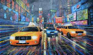 "Mark Braver Original Acylic on Canvas ""Untitled"""