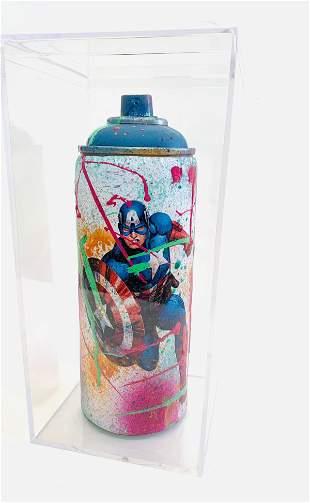 E.M. ZAX Mixed Media original on artist used spray can