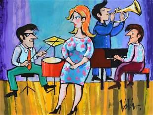 "Vova Original Acrylic on Canvas ""Untitled"""