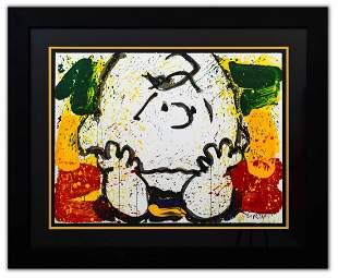"Tom Everhart- Hand Pulled Original Lithograph ""Call"