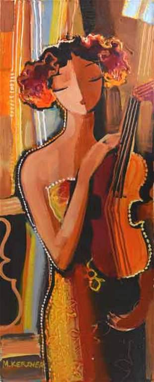 """Kerzner- Acrylic on Canvas """"Untitled"""""""