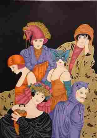 """Haya Ran- Original Serigraph """"The Doll"""""""