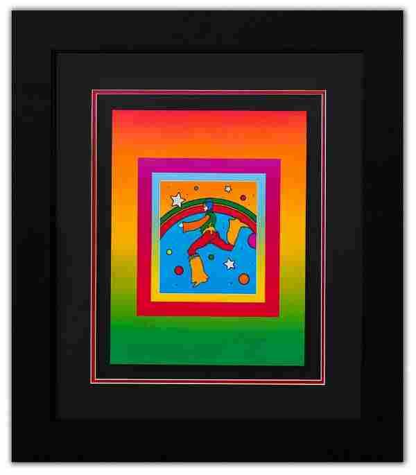 "Peter Max- Original Lithograph ""Cosmic Jumper on"