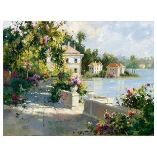 """Marilyn Simandle, """"Riviera Walk"""" Limited Edition on"""