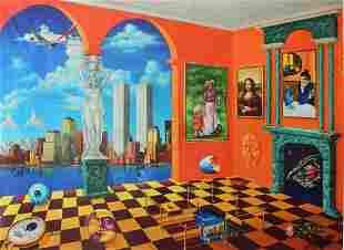 "Alexander Astahov- Original Giclee on Canvas ""New York"