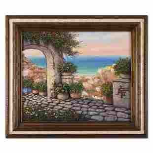 Paco Garcia, Framed Original Painting on Canvas, Hand
