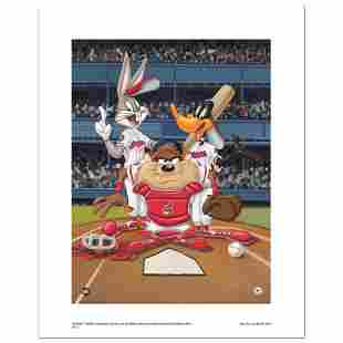 """""""At the Plate (Indians)"""" Numbered Limited Edition"""