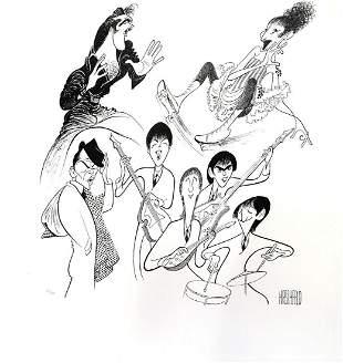 Al Hirschfeld- Original Lithograph on Paper