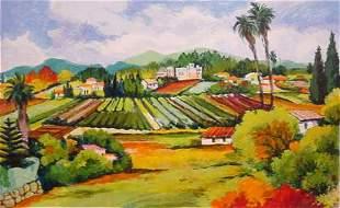 "Zina Roitman- Original Serigraph ""Provence"""