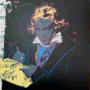 "Andy Warhol- Silk Screen ""Beethoven"""
