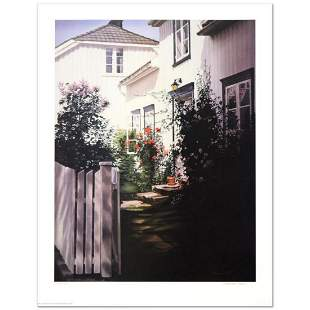"Barbara Buer, ""Garden Gate"" Limited Edition Lithograph,"