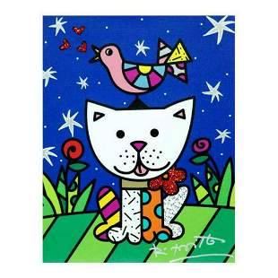 """Romero Britto """"Pals"""" Hand Signed Limited Edition Giclee"""