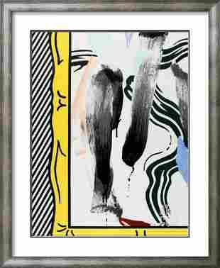 """Roy Lichtenstein- Exhibition Poster """"Against Apartheid"""""""