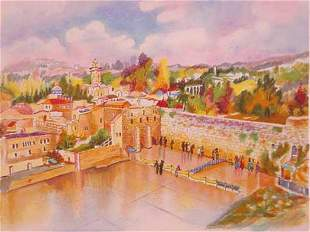 "Zina Roitman- Original Serigraph ""Jerusalem"""