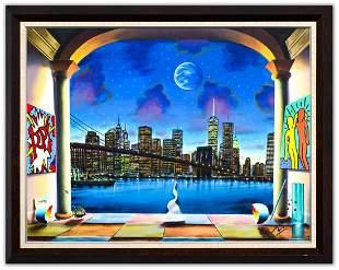 "Ferjo- Original Oil on Canvas ""A New York Evening"""
