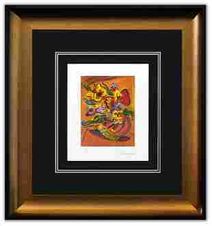 """Peter Max- Original Lithograph """"Vase Of Flowers IV"""