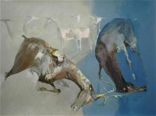 "Edwin Salomon- Original Serigraph ""Survival"""