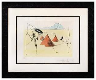 """Salvador Dali- Original Lithograph """"Gad (From Twelve"""
