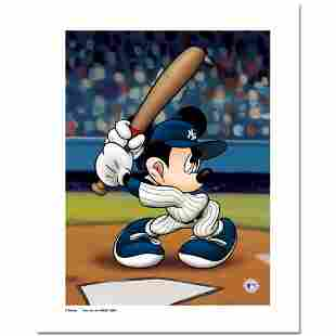 """""""Mickey at the Plate (Yankees)"""" Numbered Limited"""