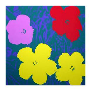 """Andy Warhol """"Flowers 11.65"""" Silk Screen Print from"""