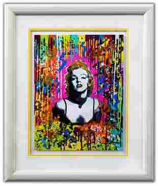 "Nastya Rovenskaya- Original Mixed Media on Paper ""Pink"