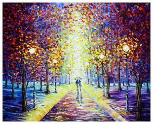 "Svyatoslav Shyrochuk- Original Oil on Canvas ""Misty"