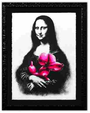 "Mr. Brainwash- Silkscreen Serigraph ""Rescue (Pink)"""