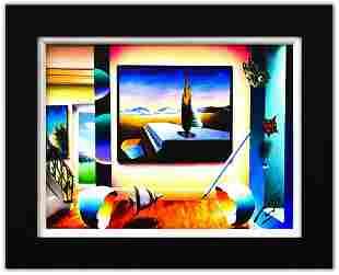 "Ferjo- Original Oil on Canvas ""Surrealists Piano"""