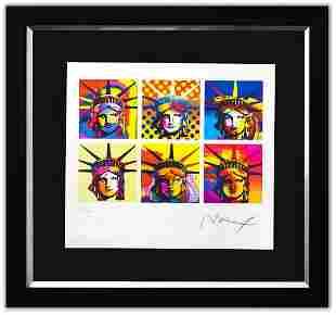 """Peter Max- Original Lithograph """"Six Liberties"""""""