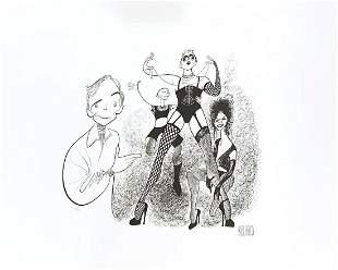 "Al Hirschfeld- Original Lithograph on Paper ""Rocky"