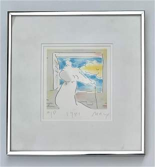 """Peter Max Serigraph on paper """"Angel"""""""