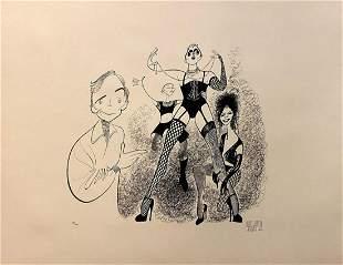 Al Hirschfeld Original lithograph on paper