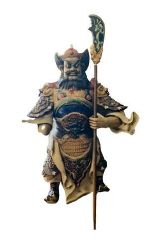 Original hand painted Porcelain Asian sculpture