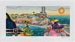 """Francesco Nesi- Original Serigraph on Paper """"ANGOLO DI"""