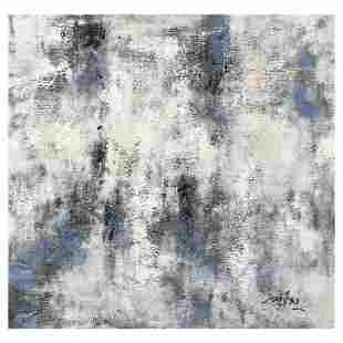 "Mani, Original Oil Painting (36"" x 36"") on Canvas, Hand"