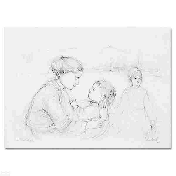 """""""Playful Mother and Baby"""" Limited Edition Lithograph by"""