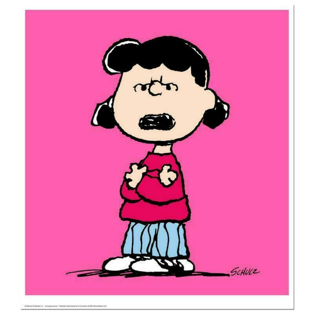 """Peanuts, """"Lucy: Pink"""" Hand Numbered Limited Edition"""