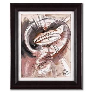 Marta Wiley, Framed Original Mixed Media Painting on