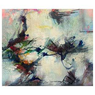 "John & Elli Milan, ""Abstract Study IV"" Hand Signed"