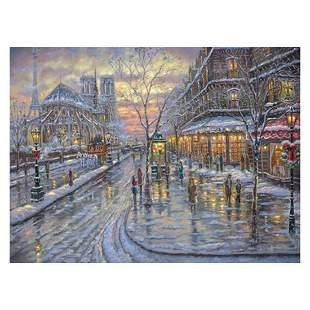 "Robert Finale, ""Christmas In Paris"" Hand Signed, Artist"
