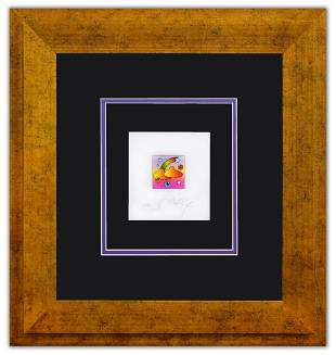 """Peter Max- Original Lithograph """"Raimbow with Clouds"""""""