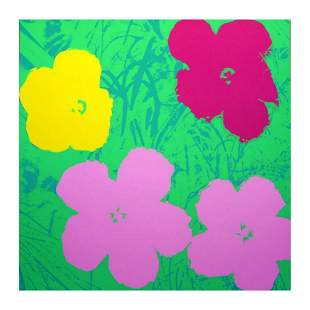 """Andy Warhol """"Flowers 11.68"""" Silk Screen Print from"""