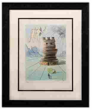 """Salvador Dali- Original Lithograph """"Simon (From Twelve"""