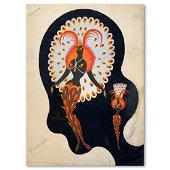 "Erte (1892-1990), ""Oiseaux, mannequins"" Original Gauche"